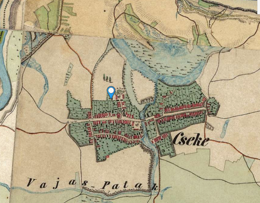 II. katonai felmérés térképe 1858