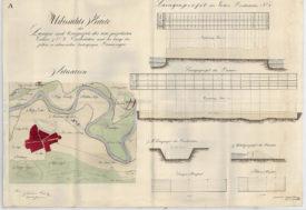 Tisza-szabályozásiterv Szatmárcseke 1865