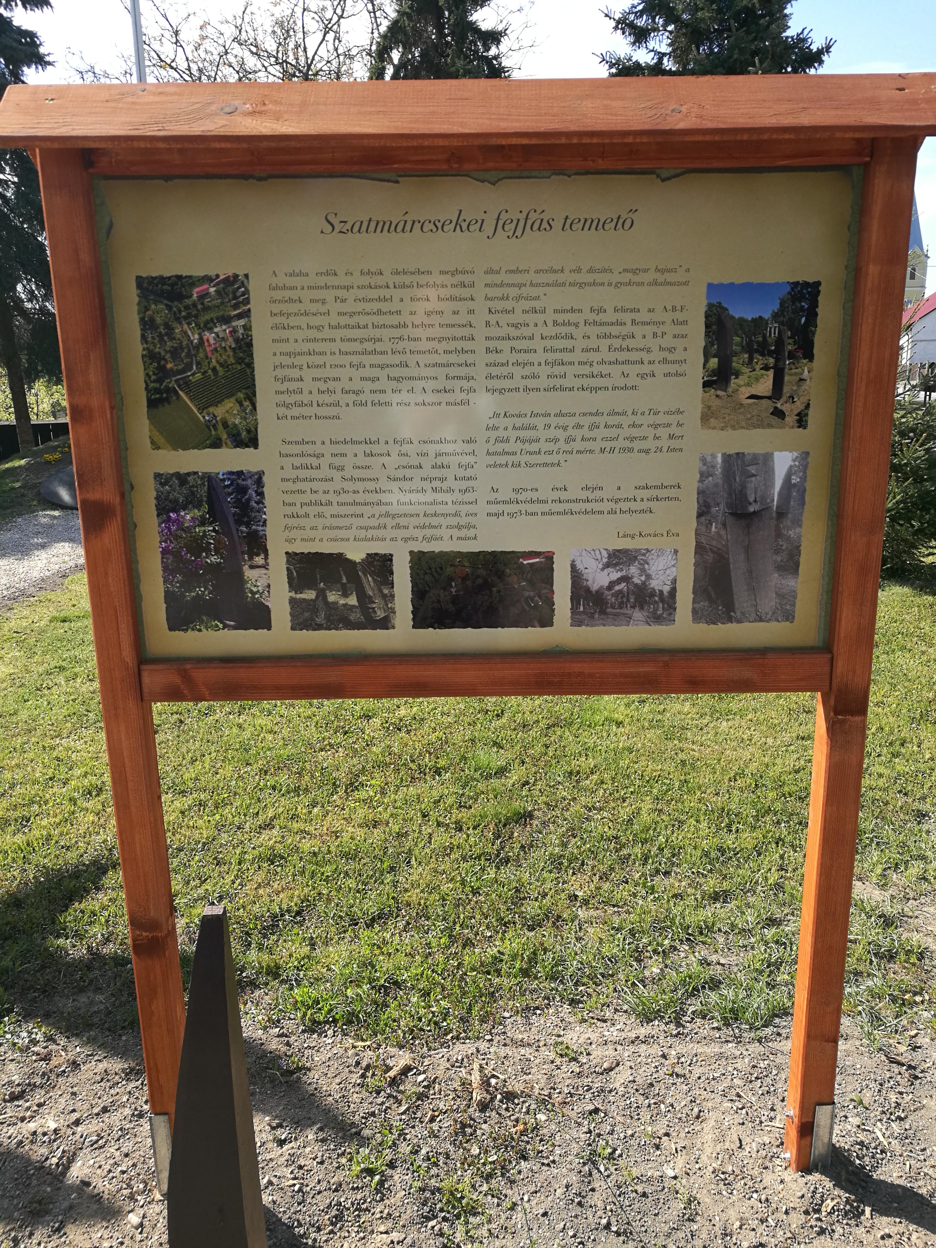 A református, fejfás temető története